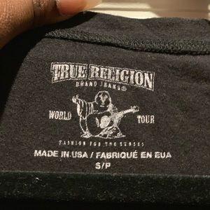 Black True Religion Tee with Swarovski Crystals